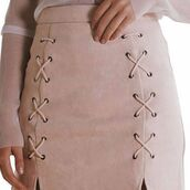 skirt,ots boutique,suede,criss cross skirt,black suede skirt,suede skirt,lace up skirt