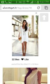 dress,shirtdress,white,shirt dress,above the knee,top