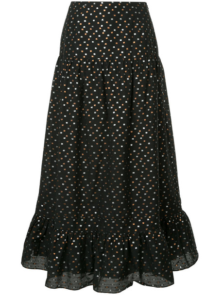 KAGE skirt polka dot skirt women cotton black
