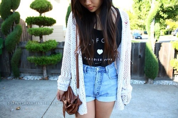 sweater white long cardigan tank top