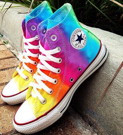 Tiedye painted shoes custom converse sneakers anime/fandom custom shoes, best gift for men women · fanartshoes · online store powered by storenvy