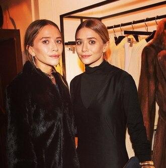 blogger jewels black olsen sisters fur