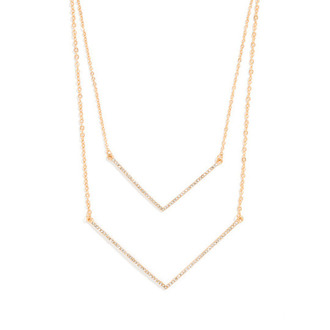 jewels necklace arrow gold silver diamonds minimalist jewelry