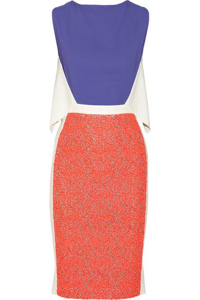 Roland Mouret | Alsafi guipure lace-paneled stretch-crepe dress | NET-A-PORTER.COM