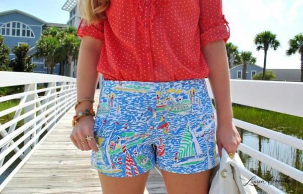 shirt blouse shorts