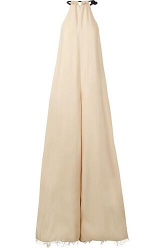 jumpsuit oversized silk