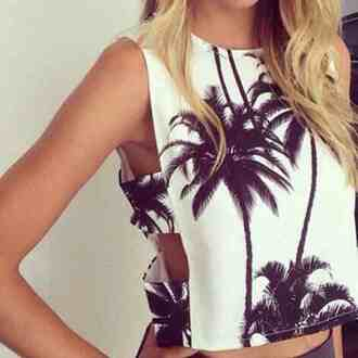 top crop tops shirt print