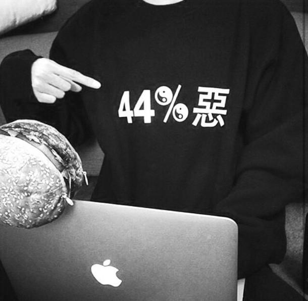 sweater grunge black