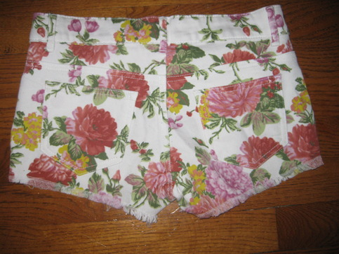Cute floral white denium short size s from nightmere clothing on storenvy