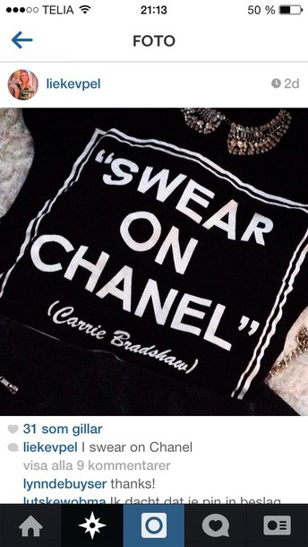 shirt black chanel shirt