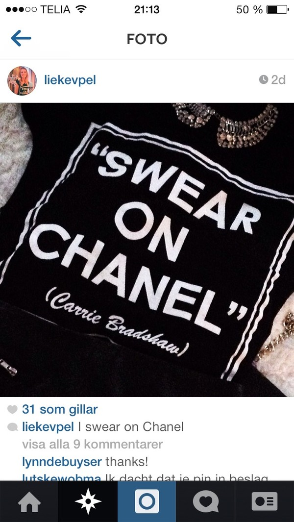 shirt black chanel shirt
