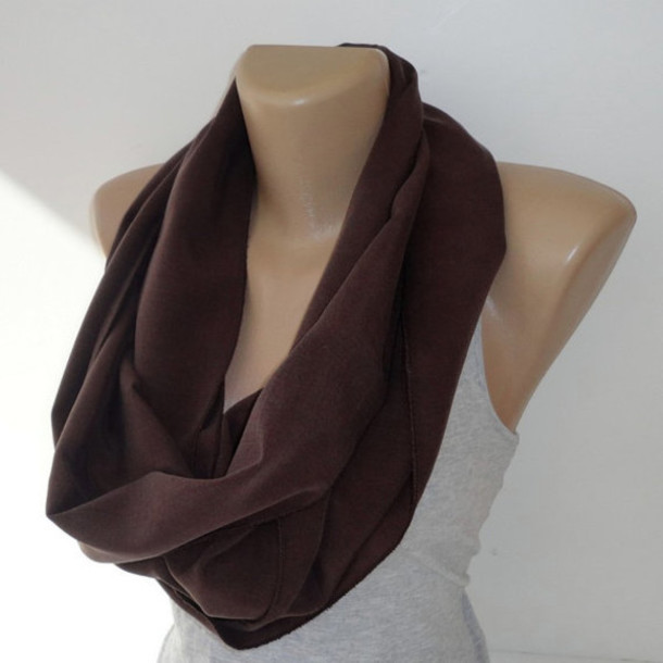 7e551caeee5f1 scarf infinite for her infinity brown scarf brown dark chocolate brown  infinity scarf cotton fashion trend