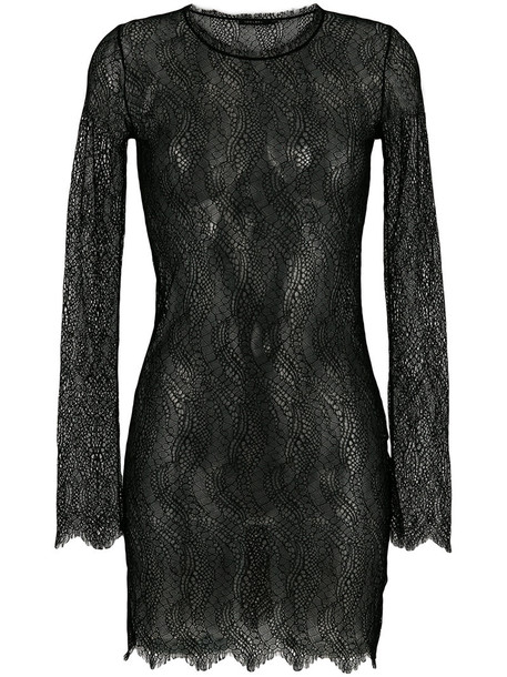Adelbel dress lace dress sheer women lace black