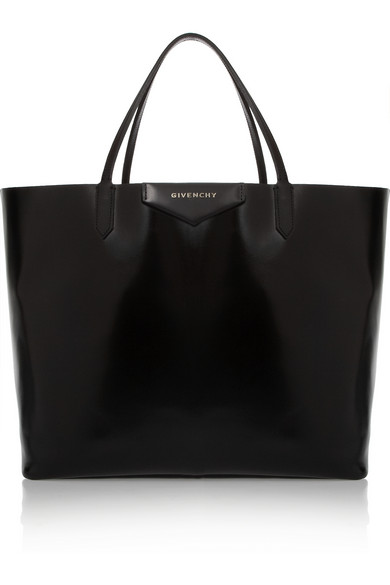 Givenchy | Large Antigona shopping bag in shiny black leather | NET-A-PORTER.COM