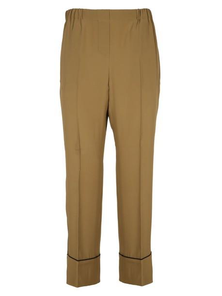 N.21 pants silk beige