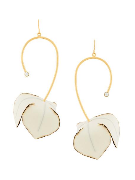 women earrings floral nude cotton jewels