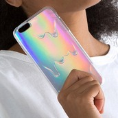 phone cover,cool,iphone case,holographic,melt,teenagers,boogzel,fashion,style,trendy,iphone cover