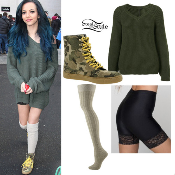 sweater little mix jade thirlwall green dark green camouflage spank