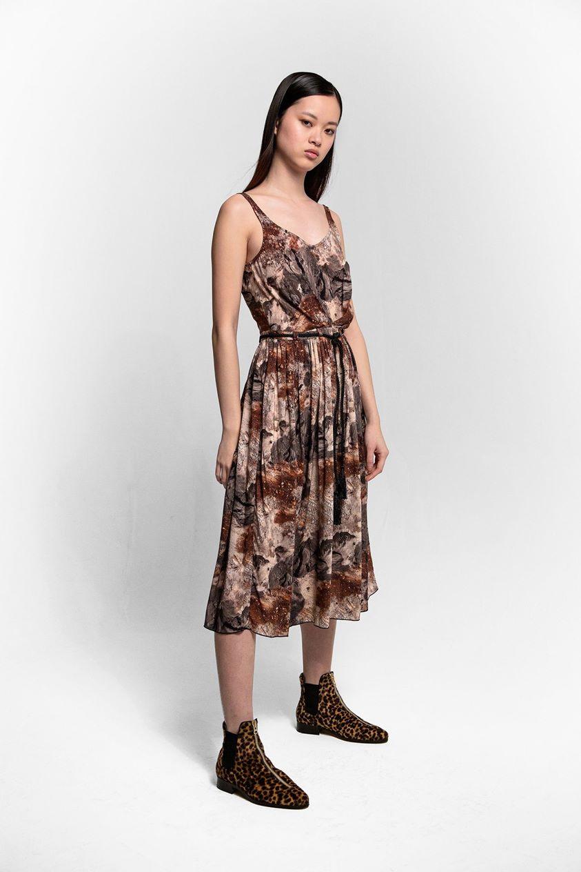 Orso dress in concrete print | Heimstone