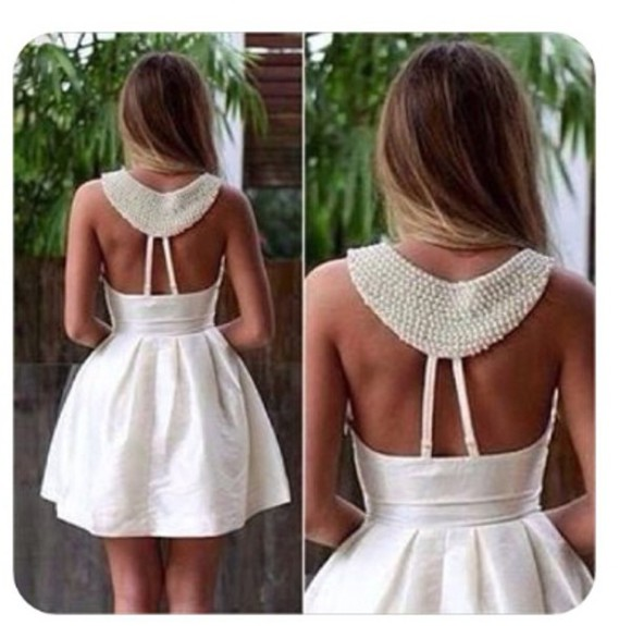 pearl white dress crochet
