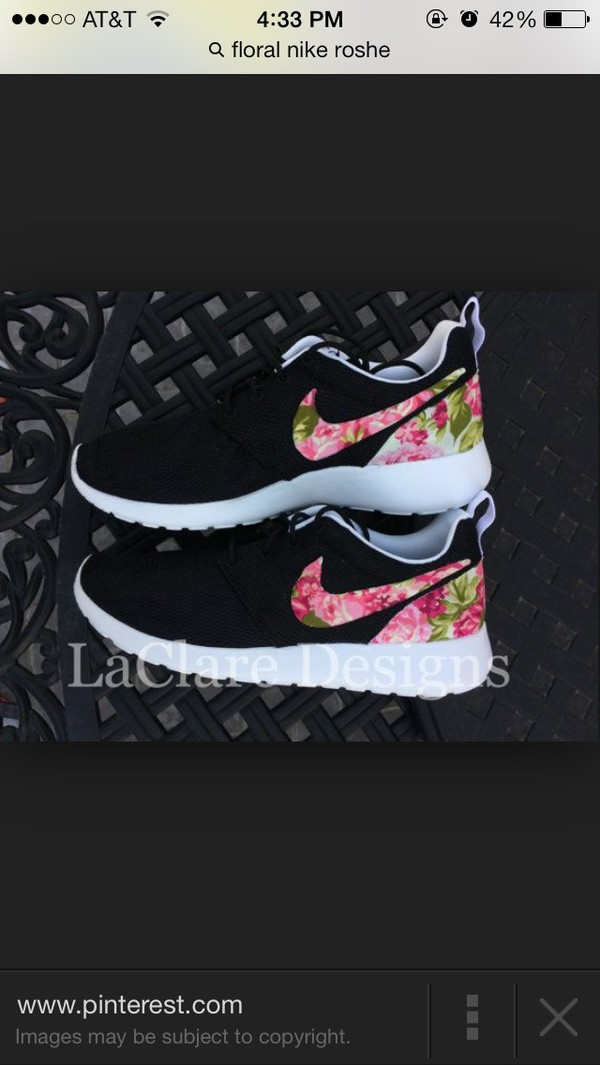 shoes floral nike roshes