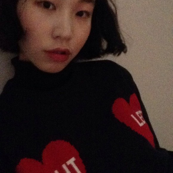 sweater sweatshirt heart navy
