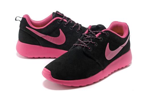 Womens Nike Roshe Run Nike Black Pink