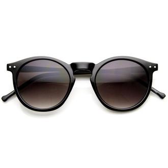 sunglasses black round hipster