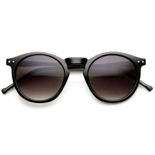 sunglasses black round hipster