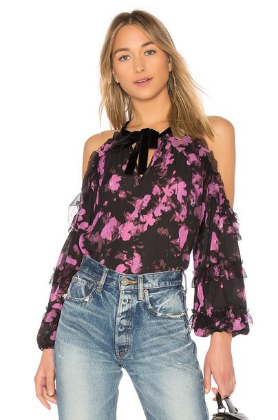 Parker blouse black top