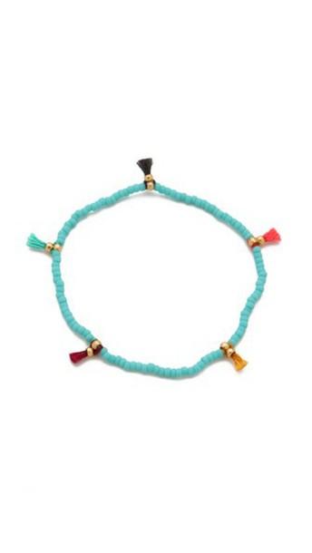 Shashi Lilu Seed Bracelet - Turquoise