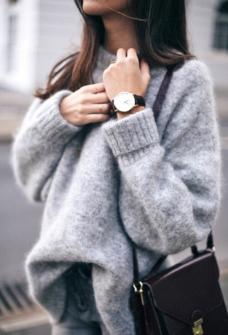 sweater pullover grey laine cashmere jumper