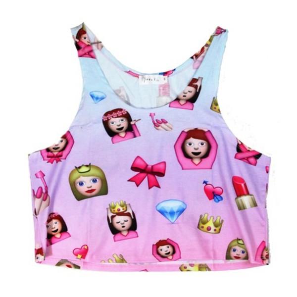 blouse emoji crop top emoji socks