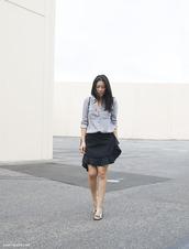 andy heart,shirt,skirt,shoes,wrap ruffle skirt