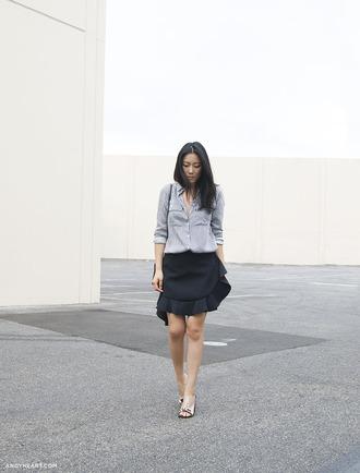 andy heart shirt skirt shoes wrap ruffle skirt