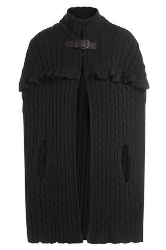 cape knit wool black top