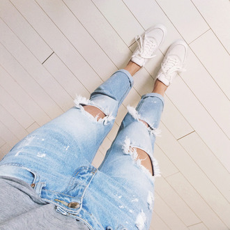 fashion fillers blogger jeans shoes t-shirt hipster ripped jeans