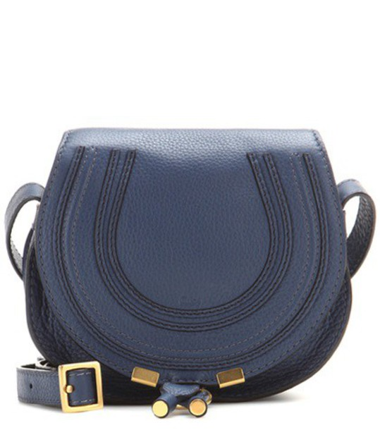 Chloe bag shoulder bag leather blue