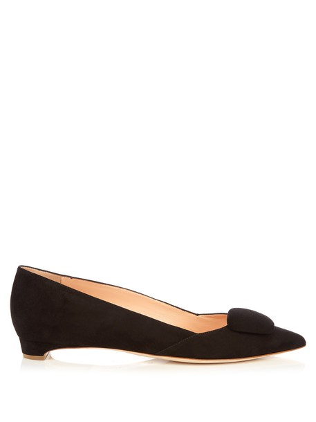 Rupert Sanderson flats suede black shoes