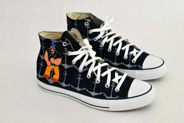 shoes converse high top converse converse converse converse custom converse popeye