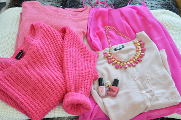 Sweater: love, pink, shirt, clothes, pink by victorias secret ...