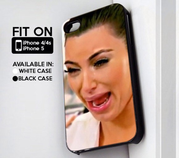 funny kim k kim kardashian crying phone case