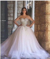 dress,white,white dress,wedding dress,wedding,quinceanera dress,quinceanera gown,bling,pretty