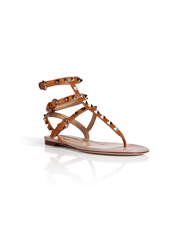 Leather Rockstud Sandals from VALENTINO | Luxury fashion online | STYLEBOP.com