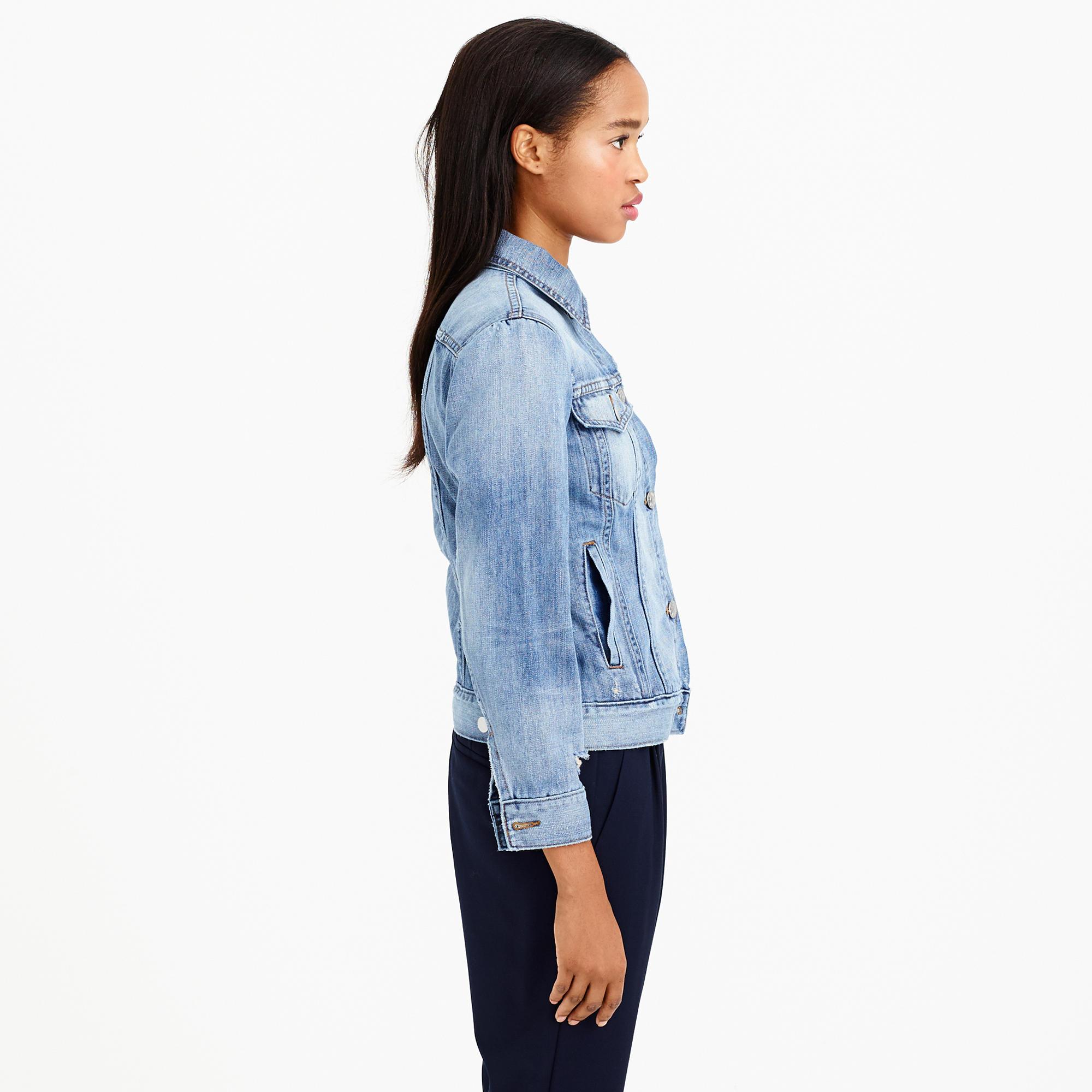 In jean jacket in gregson wash