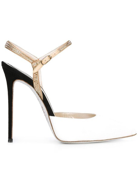 René Caovilla women pumps leather white shoes