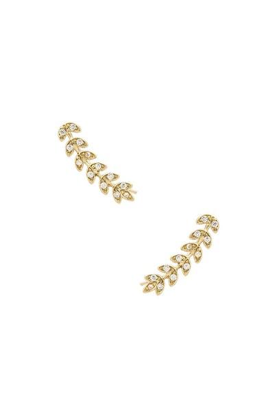 Lisa Freede Vine Earrings in gold / metallic