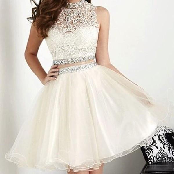 cf40b765e073 dress white dress short dress homecoming dress white homecoming  graduation  dress short wedding party dress.
