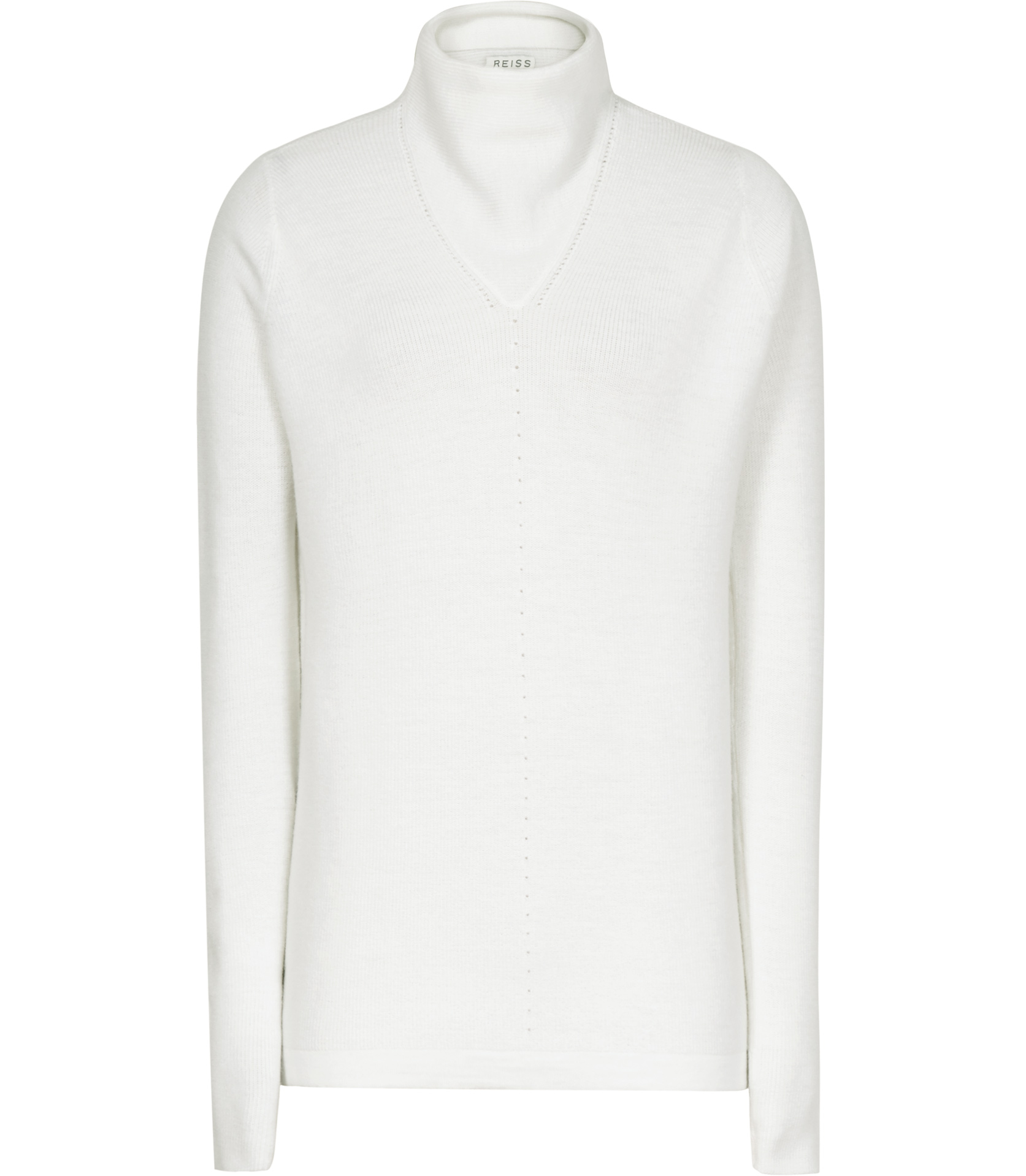 Liberty Light Ivory Lightweight Wool Jumper - REISS