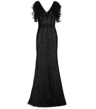 gown lace black dress